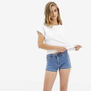 Denim Push Up Shorts Small